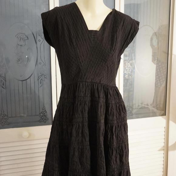 Vintage 50s Black Dress